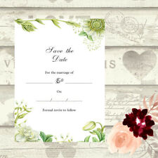DIY Wedding Save the Date Evening Cards Write Your Own Invites Day Night RSVP 13