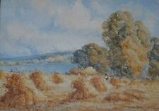 Harry Pennell British, 1879-1934 Listed Artist Watercolour Cornfield in Anglesey