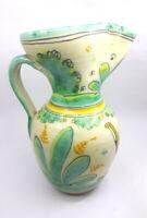 Vintage Toledo Isacu Signed Handcrafted Pottery Art Water Pitcher Vase Sangria