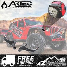 ARTEC Front Fender Chop Kit Brackets 2018+ Jeep Wrangler JL Rubicon - Black PC