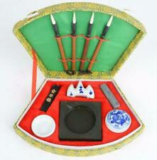 Chinese Calligraphy brush Writing Brush Pen Ink Mixing Inkstone rest Bowl 1 Set