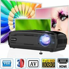 4K 3D Full HD 1080P LED Projector Home Theater Cinema Multimedia AV/USB/HDMI/VGA