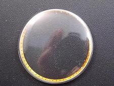 NOS Mido Vintage 32mm Watch Crystal Yellow Radium Tension Ring Ref#21 Waterproof