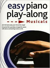 Easy Piano Playalong Musicals Piano Book And Cd, New, Various Book