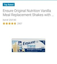 Ensure original nutrition shake Vanilla meal replacement shakes 8fl oz (24 ct)