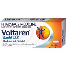 ツ VOLTAREN RAPID 12.5MG 20 TABLETS MUSCLE AND BACK PAIN RELIEF