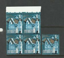 Malta 1965 Defs 6d SHIFT OFWHITE to the left giving , Block 4 UM/MNH with normal