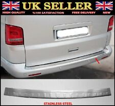 For VW T5 Transporter Chrome Rear Bumper Scratch Protector S.STEEL 2003-2015