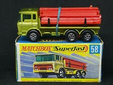 Matchbox MB58-A2 (Transitional): DAF Girder Truck in Type G Box [GREEN]
