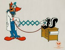"Bozo the Clown ""Doctor Bozo"" Sericel Serigraph 1992 Veterinarian Vet Skunk"