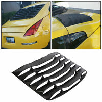 Matte Black Rear Windshield Louvers Cover ABS For 03-08 04 05 06 07 Nissan 350Z