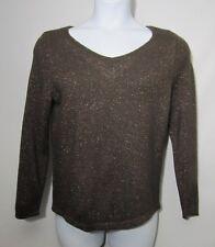 Lane Bryant Sweater Size 14/16 Brown Metallic Viscose/Wool/Angora/Cashmere Blend