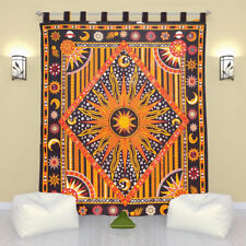 Zodic Astrology Bohemian Door Window Curtain Indian Hippie Mandala Bho Valances