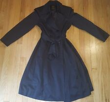 NEW womens HELL BUNNY trench coat S steampunk retro black goth raincoat jacket
