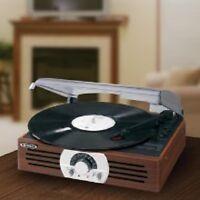 Vintage Vinyl Turntable Record Player 3Speed 33/45/78 Rpm Speakers Portable New