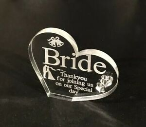 Personalised Wedding Heart Table Setting Plaques Names Favours Heart Centrepiece