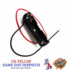 AAA 1x 1.5V Batterry Holder Connector Open Snap Box Leads Plastic with Switch