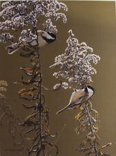 RON PARKER - CHICKADEES IN AUTUMN - LIMITED EDITION - SIGNED & NUMBERED