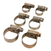 """AMTECH 6PC HOSE PIPE CLAMPS JUBLIEE CLIPS ASSORTMENT SET 1/2"""", 3/4"""" & 1"""" PLATED"""