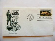 """August 6th, 1974 100th Anniversary """"Chautauqua Institution"""" First Day Cover"""
