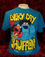 LARGE - Sesame Street Elmo Cookie Monster Everyday I'm Shufflin' T-shirt LMFAO