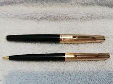 Parker Pen 61 Fountain Pen And Pencil, Black