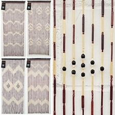 BEADED BAMBOO WOODEN DOOR CURTAIN SUMMER BLIND FLY CURTAIN SCREEN 180 X 90CM