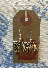 Super Cute PUG - BULL DOG  - DOG Silver Plated Drop Earrings