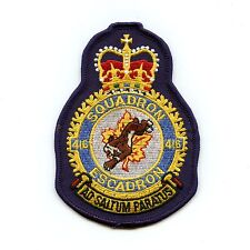RCAF CAF Canadian 416 Squadron Heraldic Colour Crest Patch
