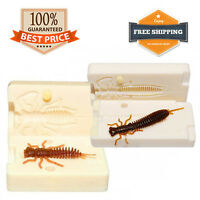 Bait Mold Bug Fishing Mayfly Soft Plastic Lure 35 - 100 mm 7 variations