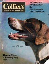 Vintage Collier's Magazine September 27, 1941 President Franklin D. Roosevelt