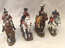 Del Prado Die-cast Lead Soldiers - 4 Horseback Cavalry (France & Spain)