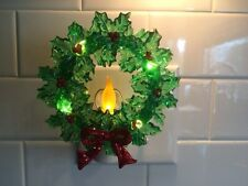 St Nicholas Square Night Light. Christmas Wreath With Candle.