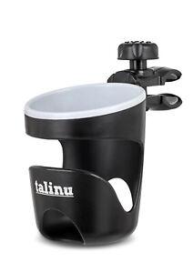TALINU Becher Flaschen Halter Getränkehalter + Sicherung für Buggy Kinderwagen