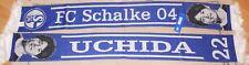 Schal + FC Schalke 04 + Atsuto Uchida + Blau Weiß + NEU + Sammler + 155x17 cm +