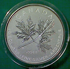 2011 CANADA $10 Maple Leaf forever commemorative 99.99% silver - coin only