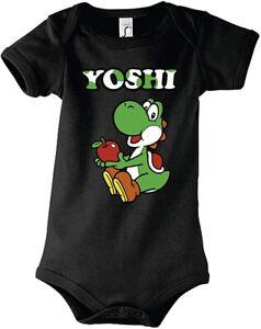 Baby Strampler Body Shirt Modell Yoshi Super Mario Yoshi Luigi Nintendo Kart Fun