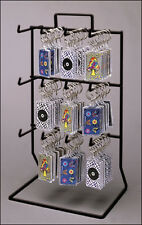 Counter Key Chain or Small Items Display Rack - 3 Tier 12 Single Peg (Black)