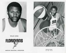 WILLIE LONG MIAMI FLORIDIANS ABA BASKETBALL 8X10 PHOTO