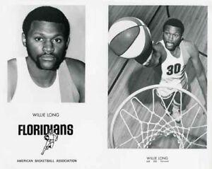 WILLIE LONG MIAMI FLORIDIANS ABA BASKETBALL 8X10 PHOTO