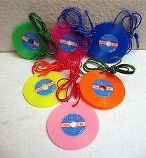 4 Disco Records Necklace Charms Old Vending Machine Toy