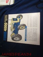 FORD 4000 INDUSTRIAL TRACTOR SALES BROCHURE CATALOG PAMPHLET BOOKLET