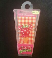 Japan Tokyo Disney Food Sweets Charm Minnie Seasons Strawberry Ice Cream Cone