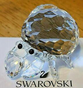 "Swarovski Crystal ""Aquatic Worlds"" Medium Hermit Crab Figurine, Box, Logo, COA"
