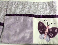 "Kidsline Set of 2 Nursery Valances Purple Butterfly Chenille Katie Little 60"" ea"