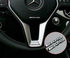 2 x Steering Wheel Badge Logo Emblem Sticker for Mercedes AMG- all vehicles