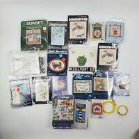 Lot of 18 Mixed Vintage Cross Stitch Pattern Booklets & Leaflets