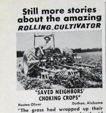 Original 1967 Cultivator Ad Photo Endorsed by Hasten Oliver of Dothan, Alabama