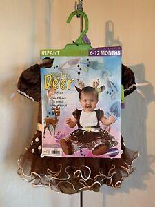 Infant Baby Deer Size 6-12, 12-18 Months 2 Piece Dress Set Halloween Costume NWT