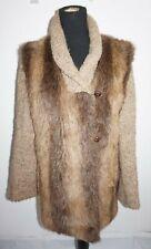 Vtg 1980s Lifestyle Andrea Unger Faux Fur Sweater Jacket Coat Sz 16 Union Made